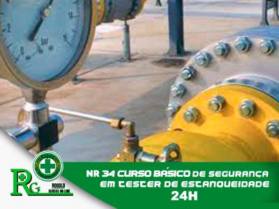NR 34 Curso Básico de Segurança em Teste de Estanqueidade